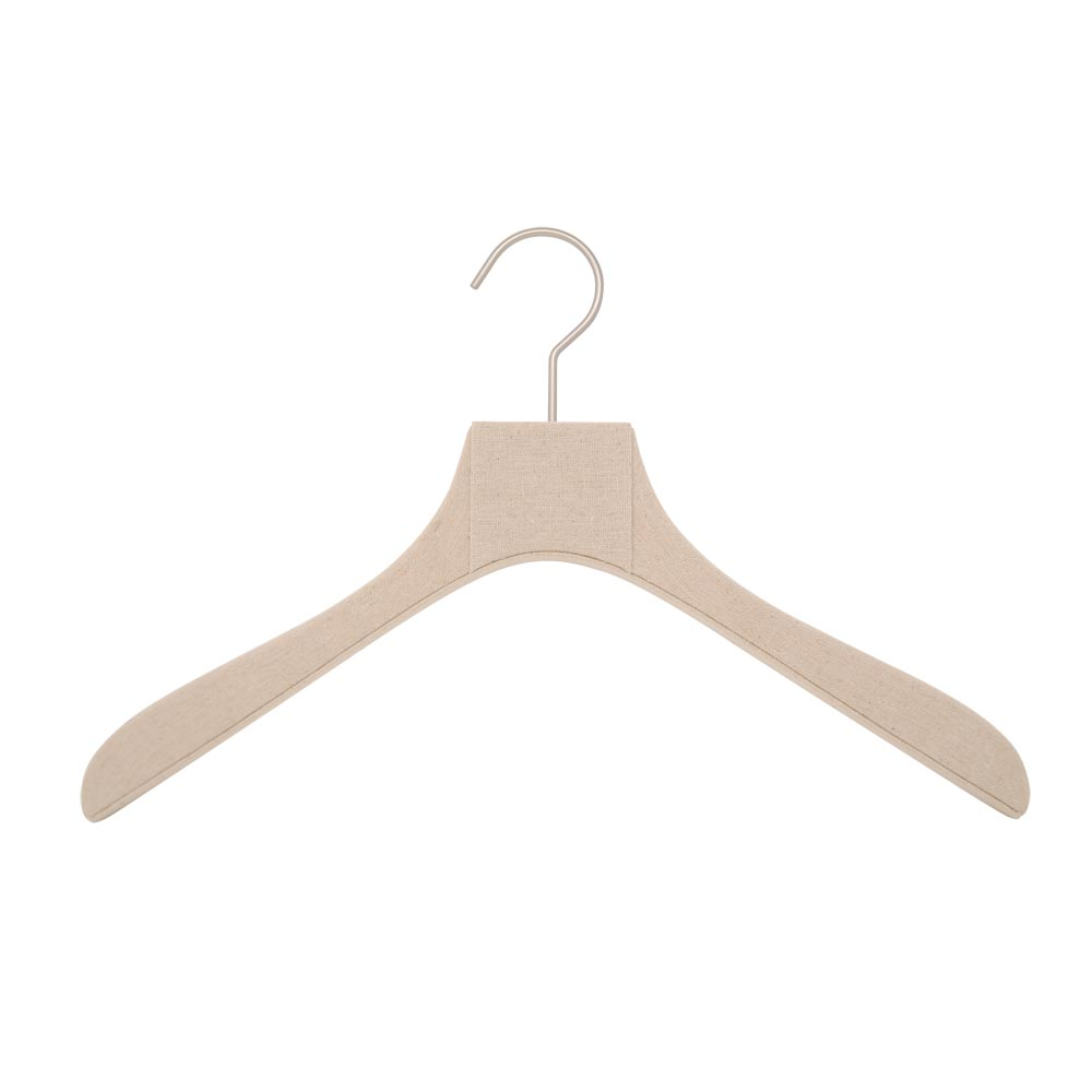 hangers covered with linen